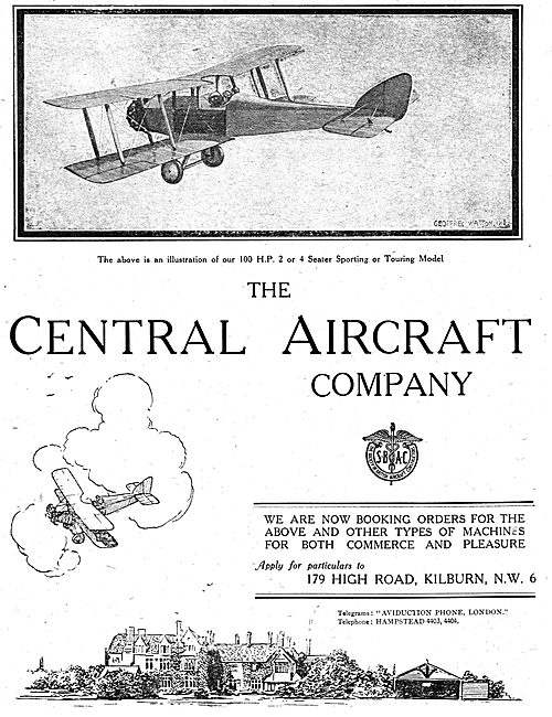 The Central Aircraft 100HP 2 Or 4 Seater Touring Aeroplane
