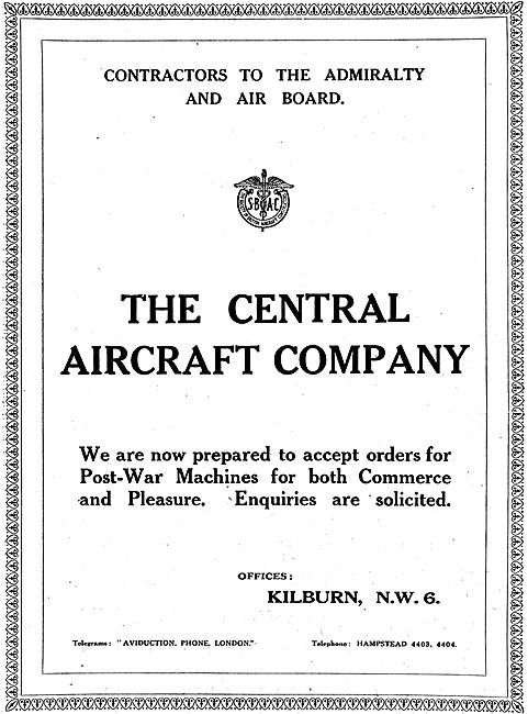 The Central Aircraft Company: Aircraft Manufacturers
