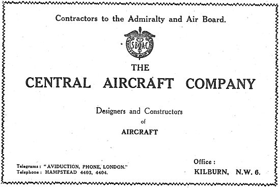 The Central Aircraft Co: Designers & Constructors Of Aircraft