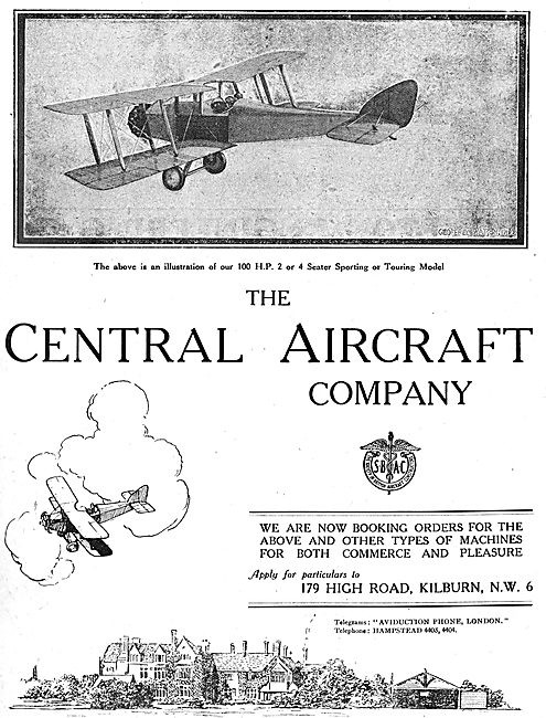 The Central Aircraft Company 100HP Sport / Touring Aeroplane
