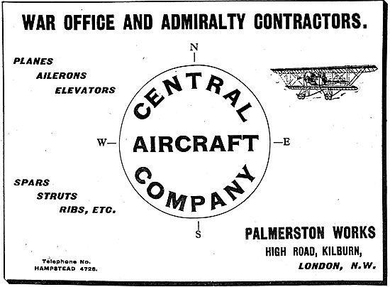 The Central Aircraft Company - Spars, Struts & Ribs Etc