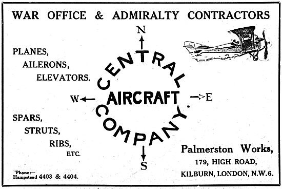 The Central Aircraft Company - Aircraft Components