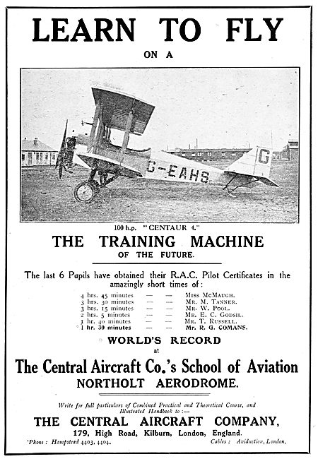 Central Aircraft Training Machine 100HP Centaur 4 G-EAHS