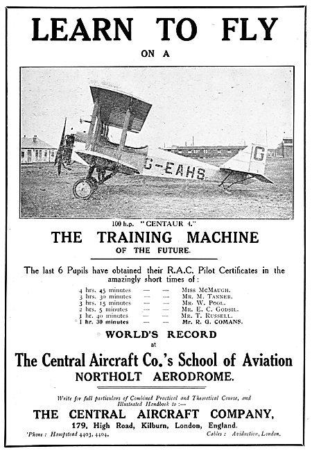 Central Aircraft Training Machine 100HP Centaur 4 G-EAHS