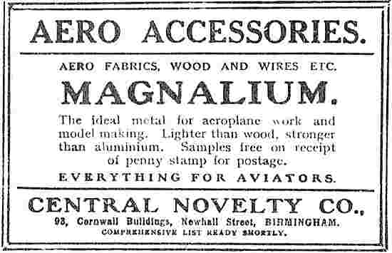 Central Novelty Magnalium & Aero Accessories