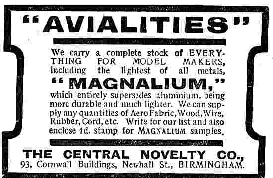 Central Novelty Aero Avialites & Magnalium
