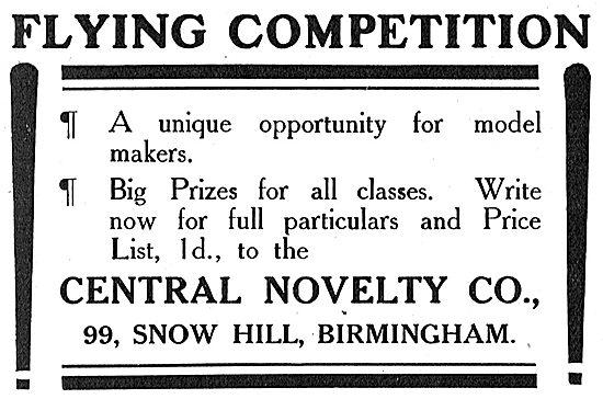 Flying Competition For Model Makers - Details Central Novelty Co