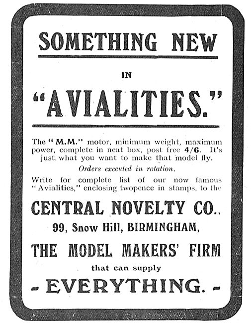 Something New In Avialities: See The MM Motor At Central Novelty.