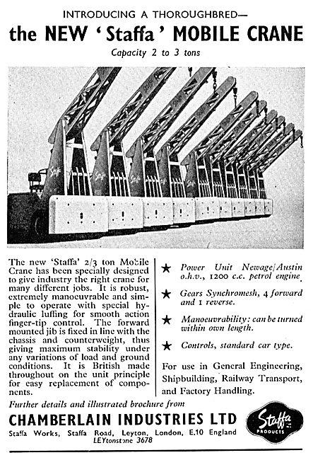 Chamberlain Industries Staffa Mobile Cranes