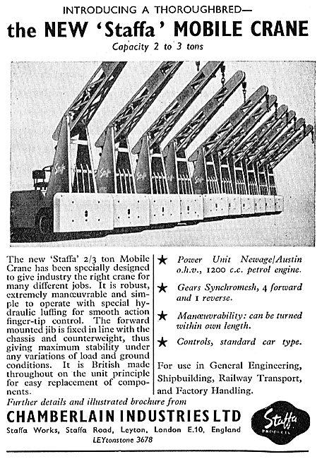 Chamberlain Industries STAFFA Mobile Crane
