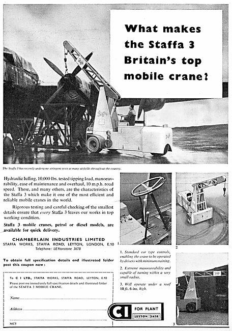 Chamberlain Industries Staffa 3 Mobile Cranes