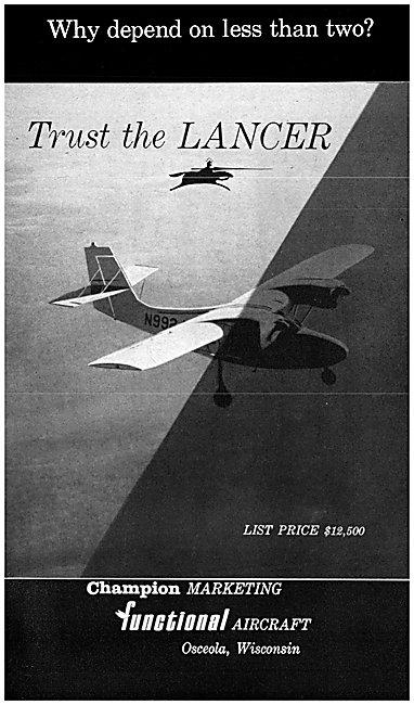 Champion Lancer Aircraft 1962