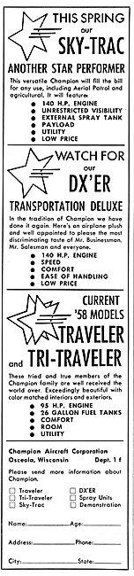 Champion Aircraft. Champion Traveler & Tri-Traveler