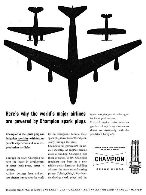 Champion Spark Plugs & Jet Igniters 1960