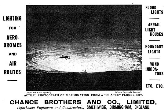 Chance Lighting For Aerodromes & Air Routes 1929