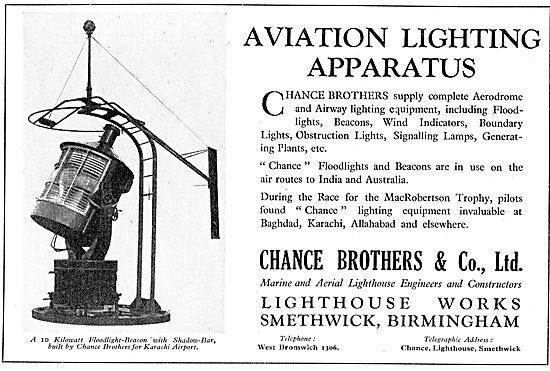 Chance Lighting For Aerodromes: 10 Kw Floodlight Beacon