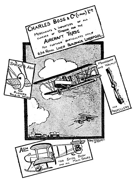 Charles Boss & Co - Timber Importers - Aircraft Timber