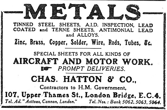 Charles Hatton  - Metal Suppliers To The Aircraft Industry
