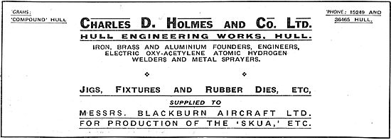 Charles Holmes.Hull Engineering Works Jigs, Fixtures, Rubber Dies