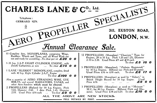 Charles Lane & Co. Aircraft Propellers