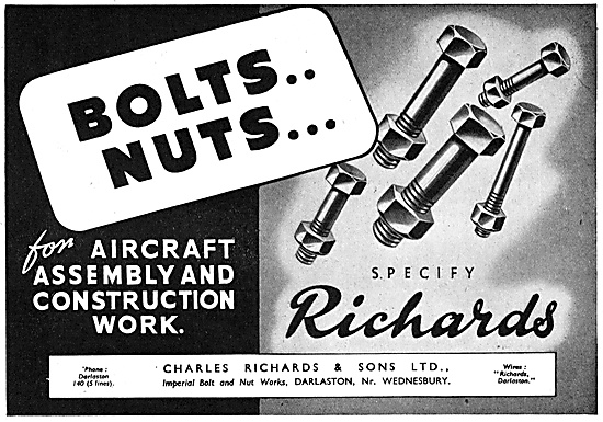 Charles Richards Imperial Bolt & Nut Works. AGS & Assemblies