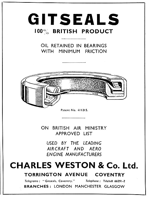Charles Weston : Gitseals Oil Retained In Bearings