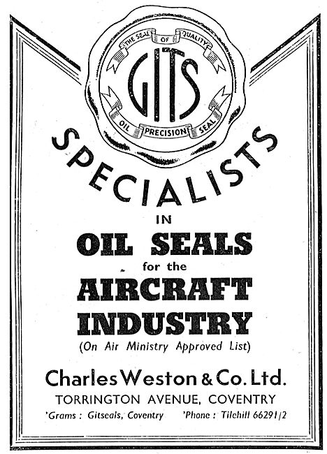 Charles Weston : Gitseals - Oil Seals