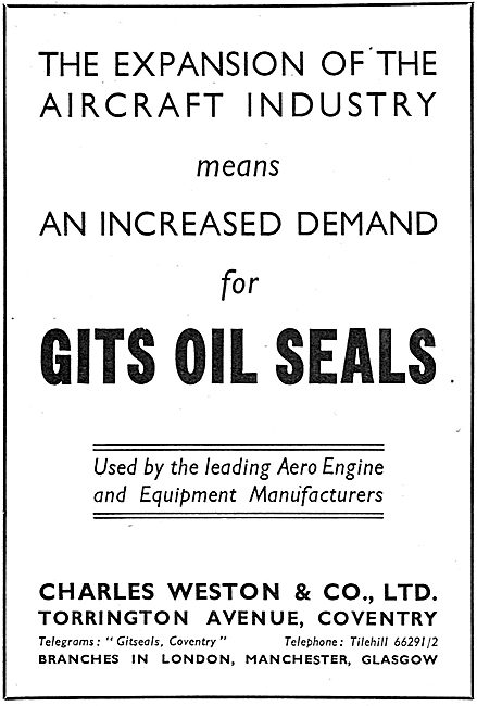 Charles Weston : Gits Oil Seals