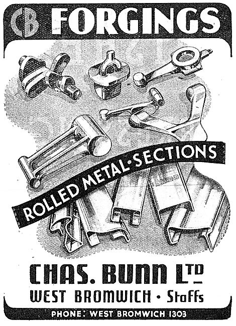 Chas Bunn. West Bromwich. Forgings & Rolled Metal Sections 1943