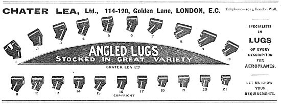 Chater Lea Angled Lugs For Aeroplane Builders