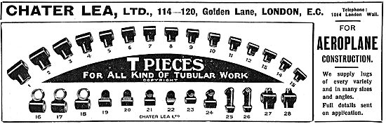 Chater Lea T Pieces For All Kinds Of Aeroplane Tubular Work