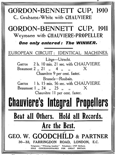 Chauviere Integral Propellers