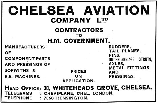 Chelsea Aviation Company Ltd - Component Manufacturers