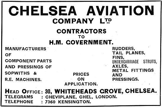 Chelsea Aviation Company Ltd - Component Manufacturers