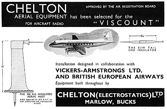Chelton Aerials, Electrical Dischargers & Static Wicks