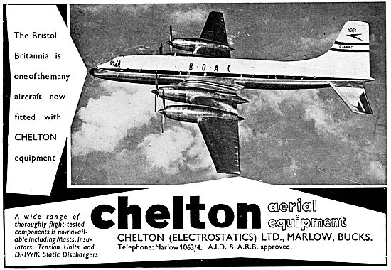 Chelton Aircraft Aerial Equipment 1957