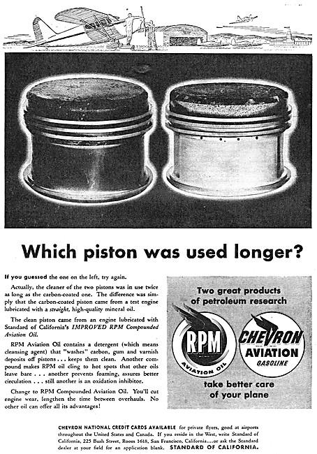 Chevron Gasoline - RPM Aviation Oil