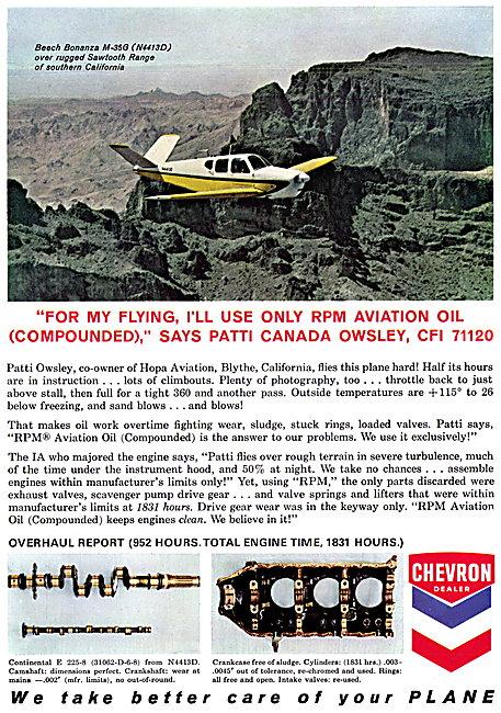 Chevron RPM Aviation Oil