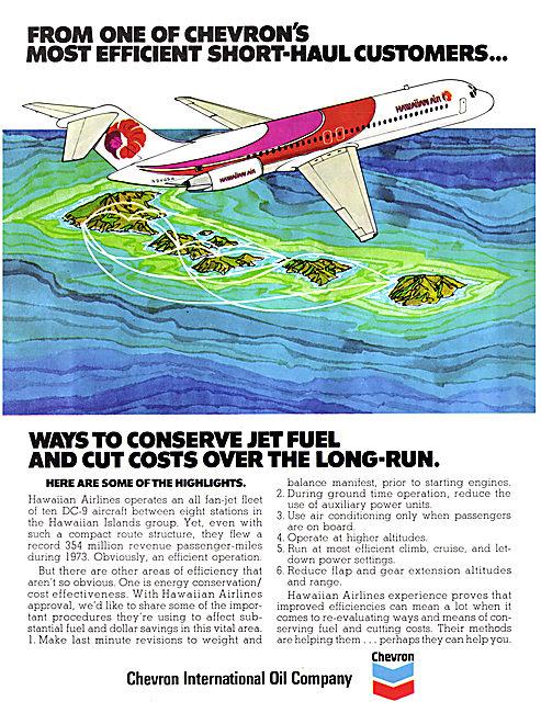 Chevron Aviation Fuels & Oils 1975