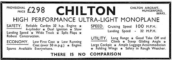 Chilton High Performance Ultralight Monoplane: £298