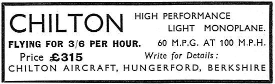 Chilton High Performance Light Monoplane