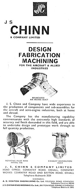 J.S.Chinn Production Of Components & Sub-Assemblies