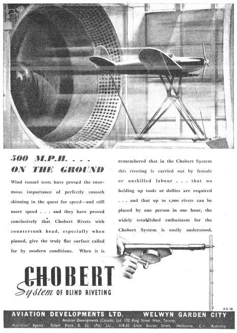 Aviation Developments - Chobert Blind Riveting System