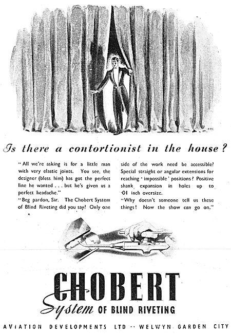 Aviation Developments - Chobert Blind Riveting System 1942 Advert