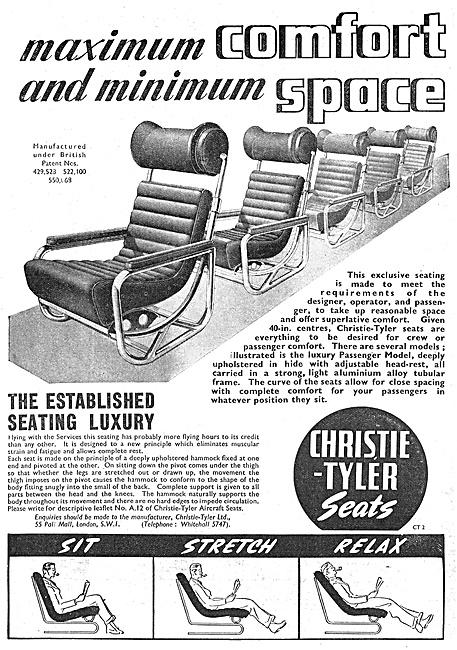 Christie-Tyler Aircraft Seats 1947