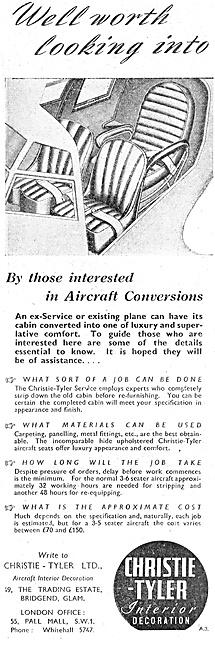 Christie-Tyler Aircraft Seats