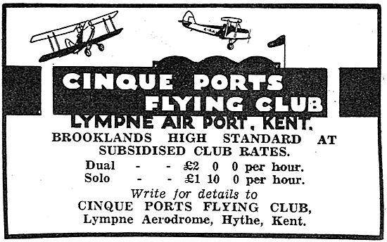 Cinque Ports Flying Club Lympne