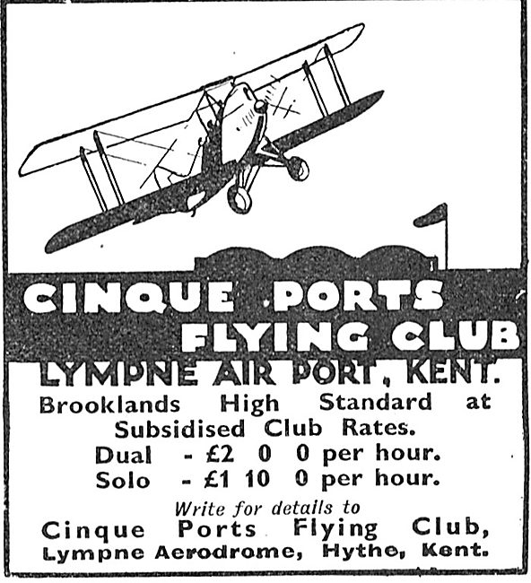 Cinque Ports Flying Club Lympne Air Port, Kent