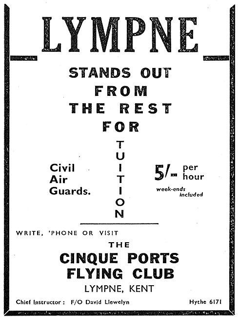 Cinque Ports Flying Club Lympne - Civil Air Guard