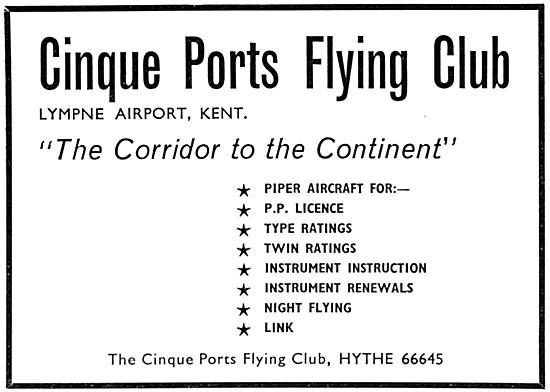 Cinque Ports Flying Club Lympne 1966